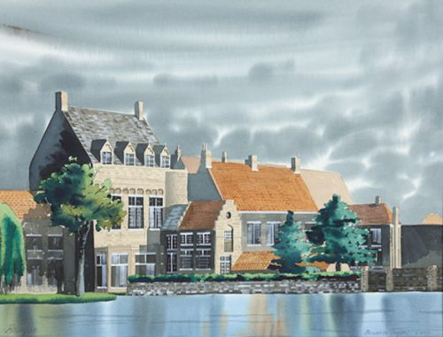 Brugge-watercolor-by-terrance-taylor