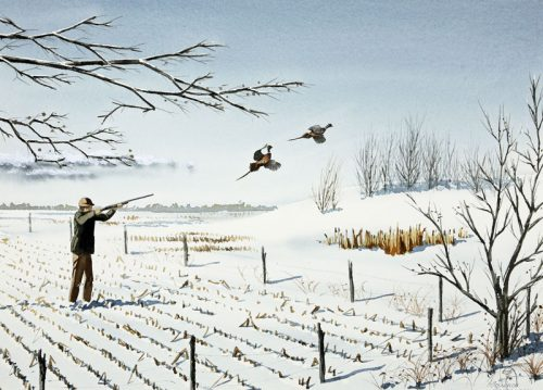 pheasants-in-the-snow-24-x-16-watercolor-by-terrance-taylor-235